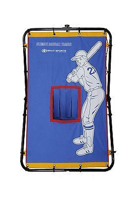 Youth Baseball Practice All In One Trainer Pitching Hitting Plus Rebounder