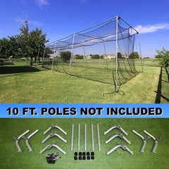 Batting Cage Net  And Frame Kit 40x12x10 Baseball Softball Hitting Tunnel