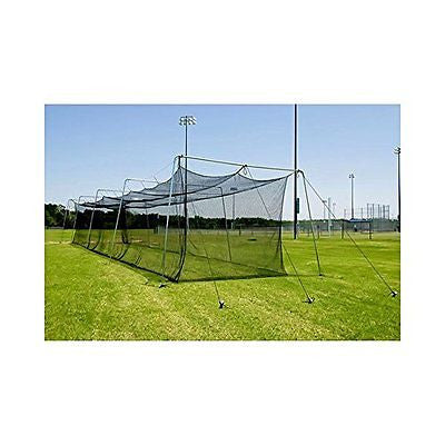 Batting Cage Net 55x14x12 #42 Twisted Knotted Poly HDPE W/ Door Heavy Duty SALE