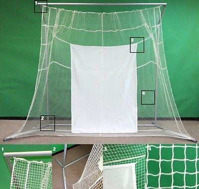 Large Practice Golf Net and Frame with Impact Screen