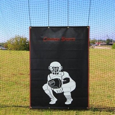 Baseball Batting Cage Vinyl BackStop With Visual Catcher & Grommets For Hanging