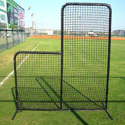Baseball Batting Practice L Screen Heavy Frame & HQ Protective Net League Tool