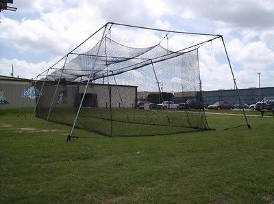 Baseball Batting Cage Net Netting #36 Twisted Poly 70 X 12 X 12 With Door
