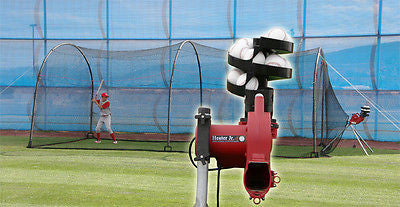 Baseball Pitching Machine with Auto Ball Feeder & 24' x 12' x 12' Heater JR