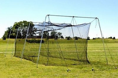 Batting Cage Net 48x12x11 #36 Knotless Backyard Baseball Softball Netting