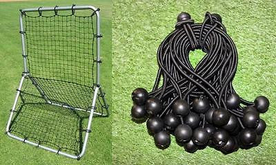 Baseball Pitchback Net Replacement With Deluxe Fastener Kit (net & 40 Bungees)