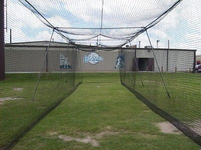 Baseball Batting Cage Net Netting  #51 Poly 70 X 14 X 12 W/ Door Opening