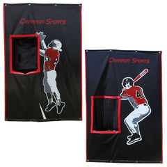2-Sport Catcher Vinyl Backstop Baseball Football Pocketed Backstop