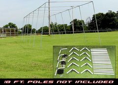"55x14x12 - 1 1/2"" Batting Cage Frame Corner Kit"