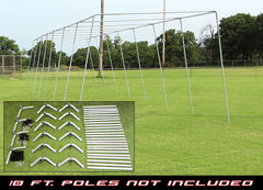 "70x12x12 1 1/2"" Batting Cage Frame Corner Kit"