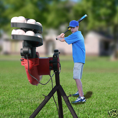 Baseball Practice Machine Pitching With Feeder Basehit New Pop Ups Grounders