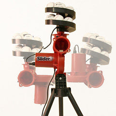 Slider Lite Baseball Pitching Machine & 12 Slider Lite Balls