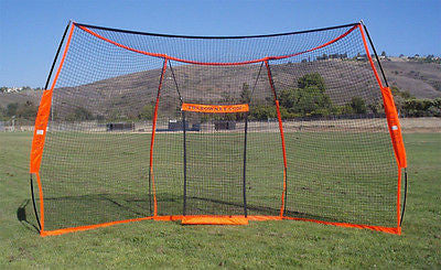 "Large Baseball Practice Net Bownet Back Stop  9' 6"" tall x 17' 6"" wide Multi Pur"
