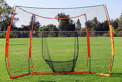 Baseball Practice Net Bownet Portable Hitting Station 12' Wide 8' Backstop