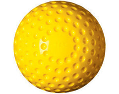 Pitching Machine Softballs Dimpled Yellow 1 Dozen