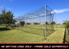 Baseball Batting Cage Net 40x12x10 #24 Twisted Poly HDPE w/ Door Opening