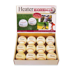 Heater Leather Pitching Machine Balls 12 Pack