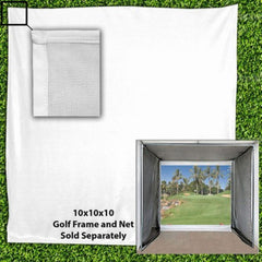 Golf Practice Large White Golf Impact Netting 10 x 10 Projection Screen CM-100IS