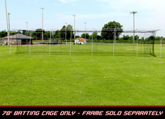 Copy of Copy of Baseball Batting Cage Net 70x12x12 #24 Twisted Poly HDPE w/ Door Opening