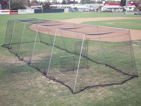 Backyard Batting Cage Kit 40' Knotted Nylon With L Screen Must See!