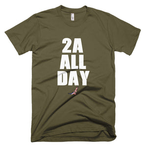 Army Colored T-Shirt with 2A ALL DAY Design