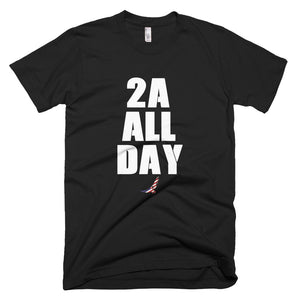 Black T-Shirt With 2A ALL DAY Design