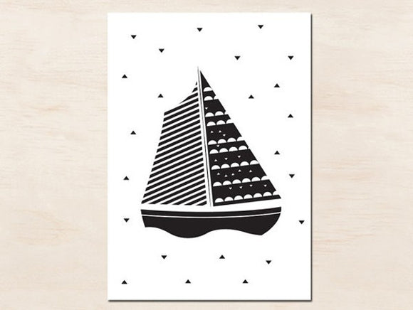 Carte déco bateau by Green and Paper