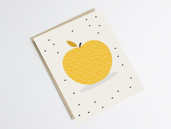 Carte postale pomme by Green and Paper