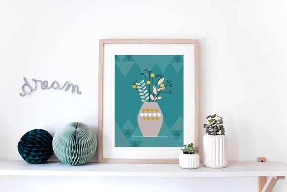 Affiche vase scandinave by Green and Paper