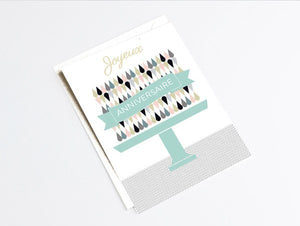 Carte joyeux anniversaire originale by Green and Paper