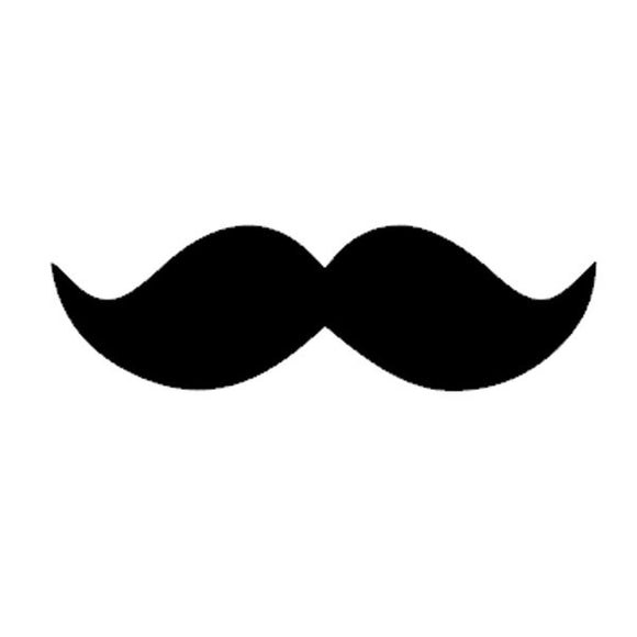 Motif thermocollant moustache by PÖM le Bonhomme