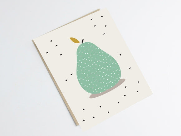 Carte postale poire by Green and Paper