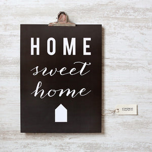 Affiche Home Sweet Home by Cinq Mai