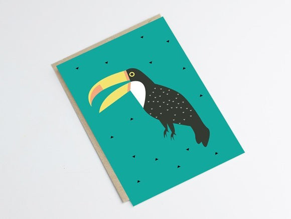 Carte Toucan by Green and Paper