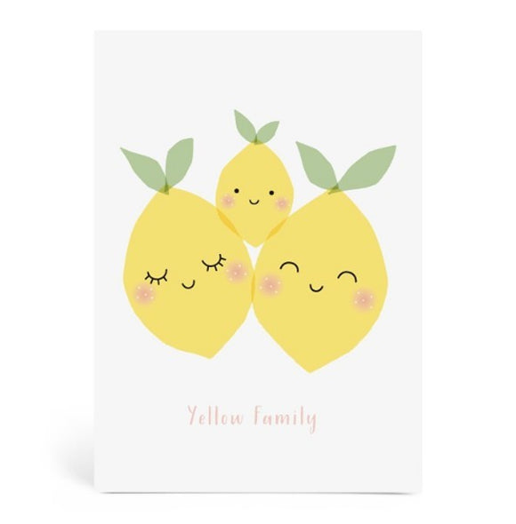 Grande carte Yellow Family by Zü