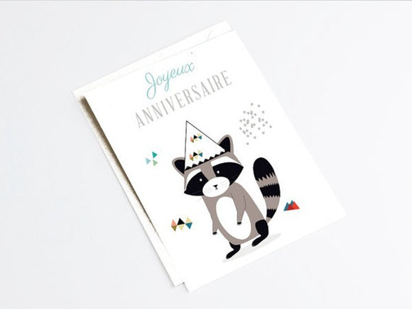 Carte double joyeux anniversaire by Green and Paper