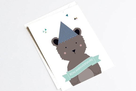 Carte anniversaire originale by Green and Paper