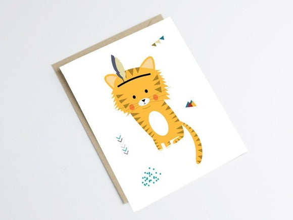 Carte Tigre by Green and Paper