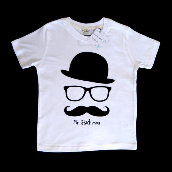 T shirt enfant moustache by By LZB