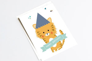 Carte Joyeux anniversaire Tigre by Green and Paper