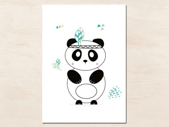 Carte postale panda by Green and Paper