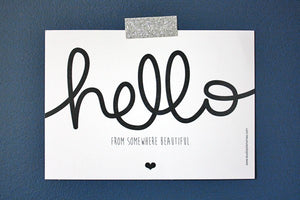 Carte Hello by Studio jolis mômes