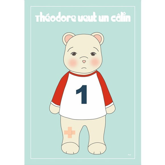 Affiche enfant ours by P'tite Madeleine