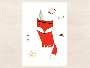 Affiche enfant renard by Green and Paper