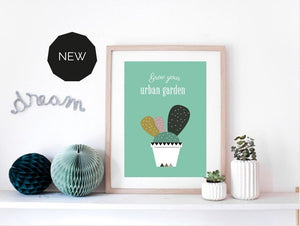 Affiche Cactus by Green and Paper