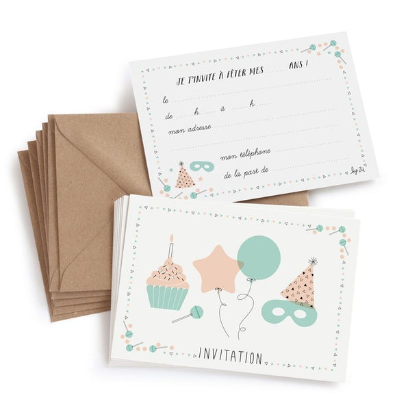 Cartes invitation anniversaire by Zü