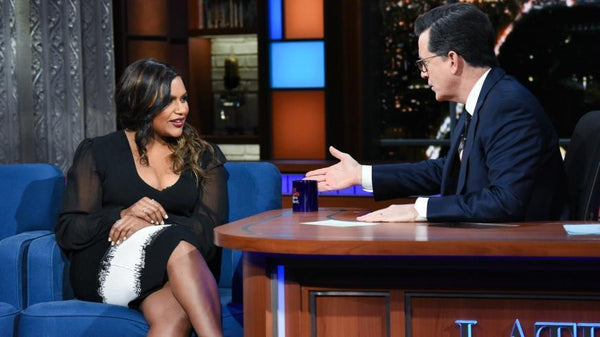 Mindy Kaling at The Late Show with Stephen Colbert