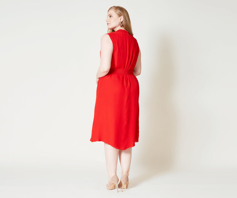 Zoe Dress - Crimson Red