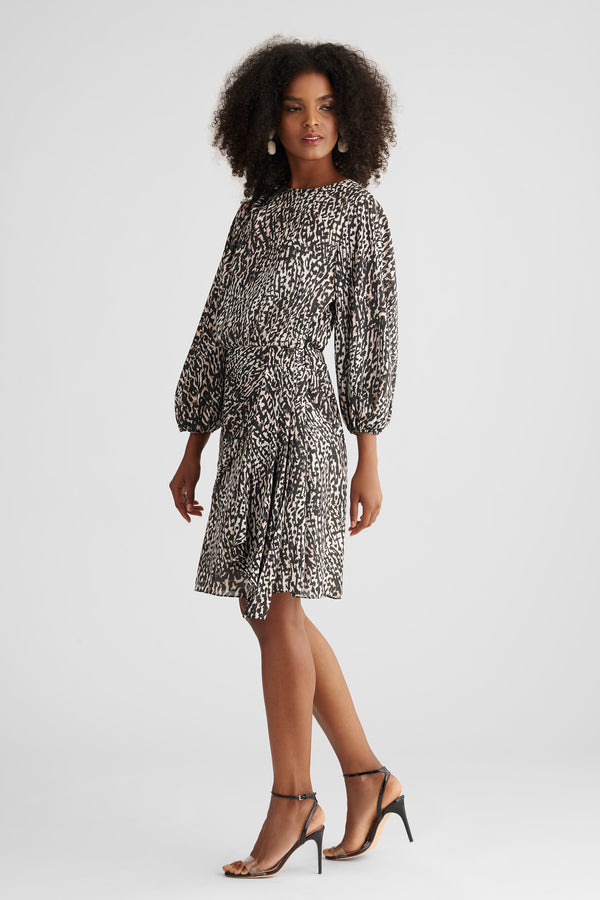 Sylvie Dress - Natural Cheetah
