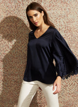 Adelaide Blouse- Midnight - Final Sale